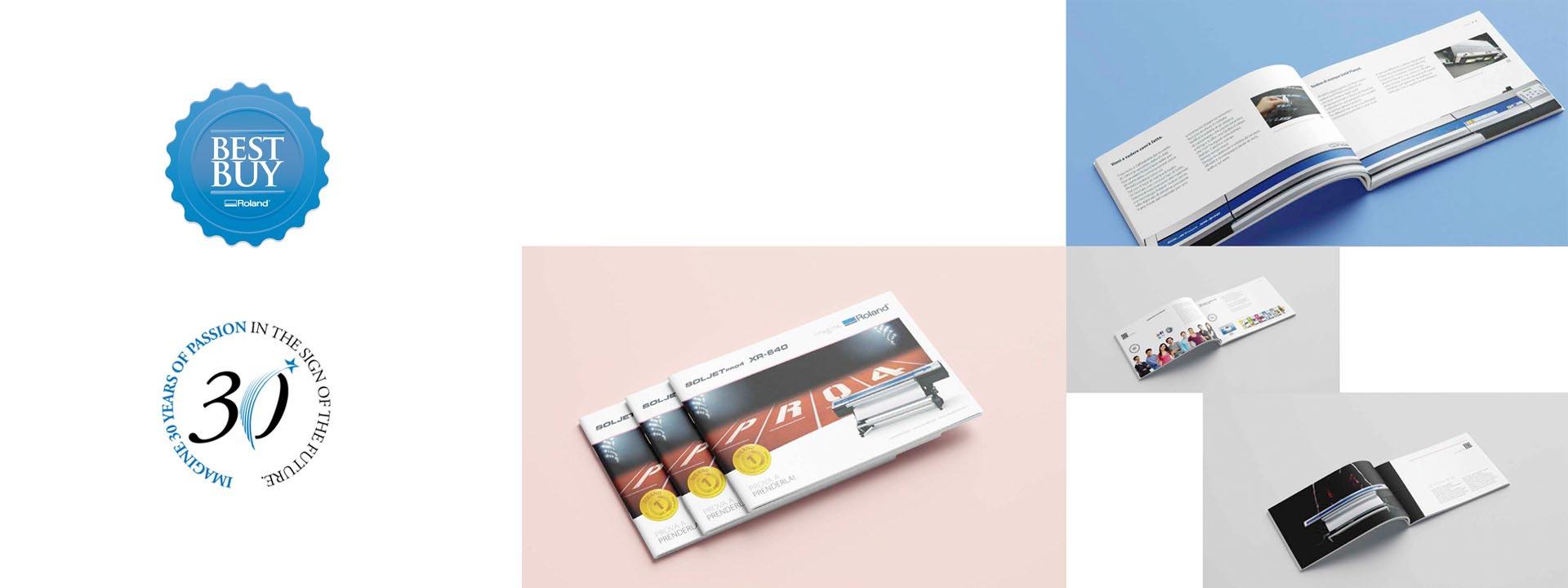 Realizzazione comunicazione visiva per Roland DG EMEA | Hammer ADV | Brochure