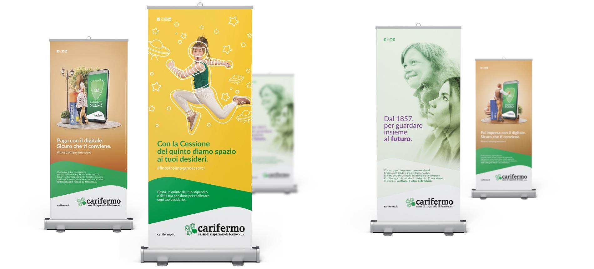 Realizzazione campagne pubblicitarie per Carifermo   Hammer ADV   Espositori