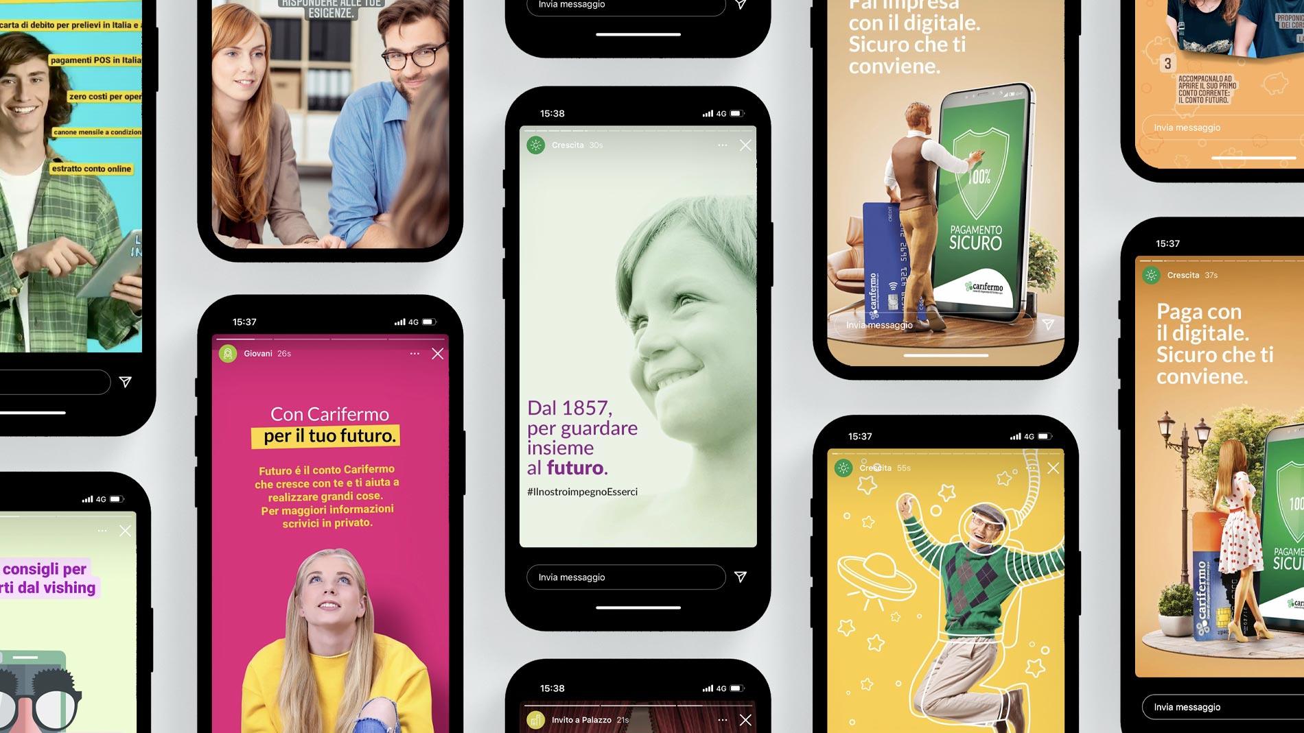 Realizzazione campagne pubblicitarie per Carifermo   Hammer ADV   Instagram